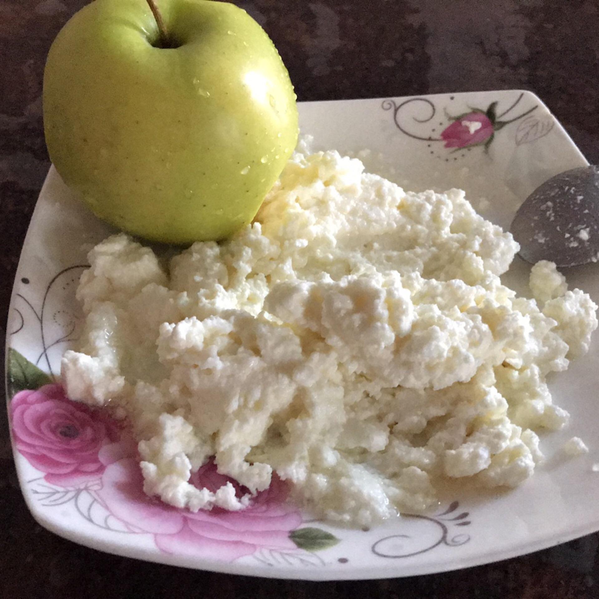 Творог и яблоко для похудение