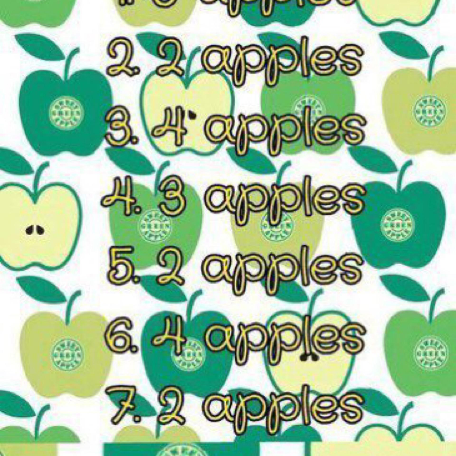 Яблочная диета по дням