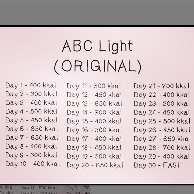 Таблица диеты авс суперлайт на 50 дней
