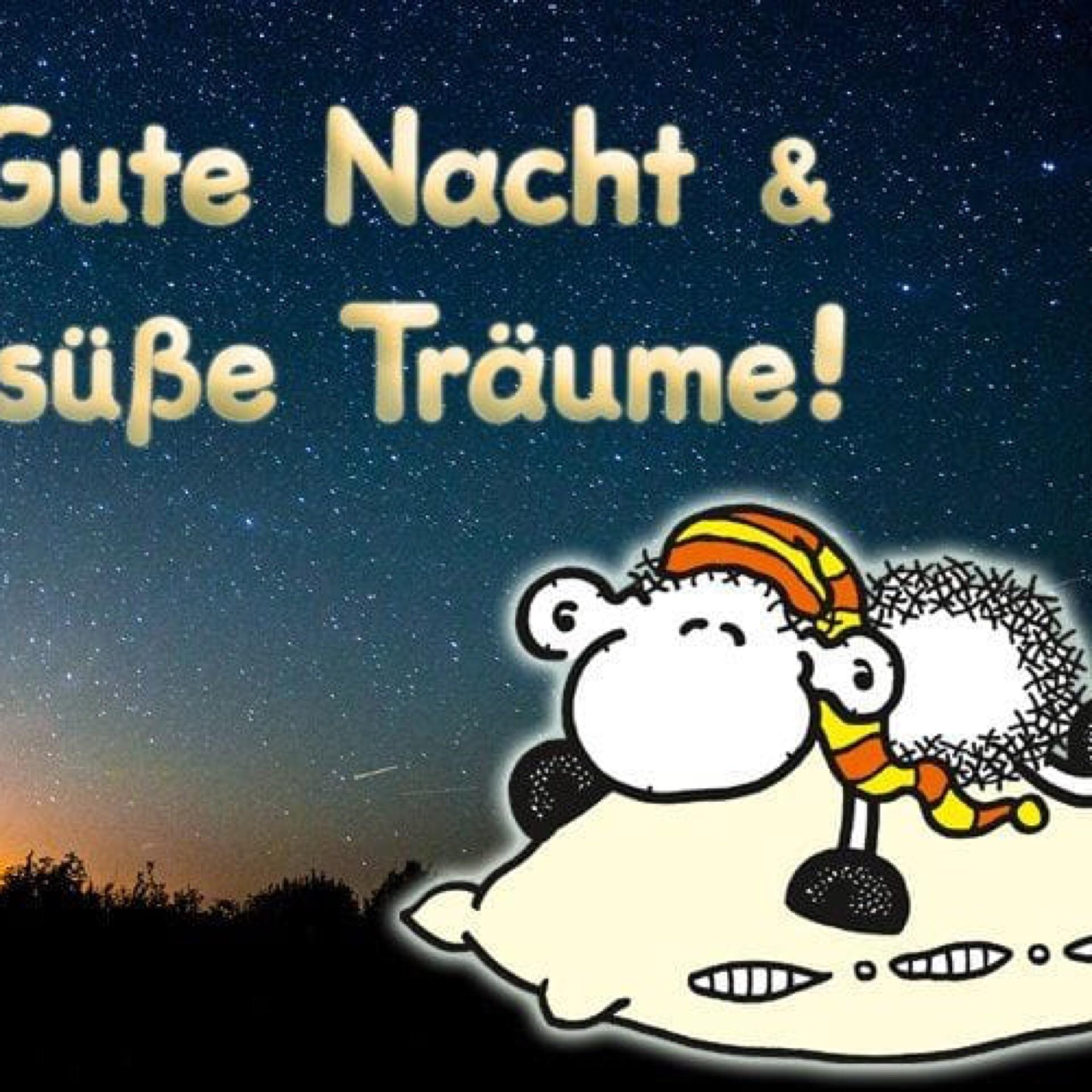 Открытка спокойной ночи на немецком