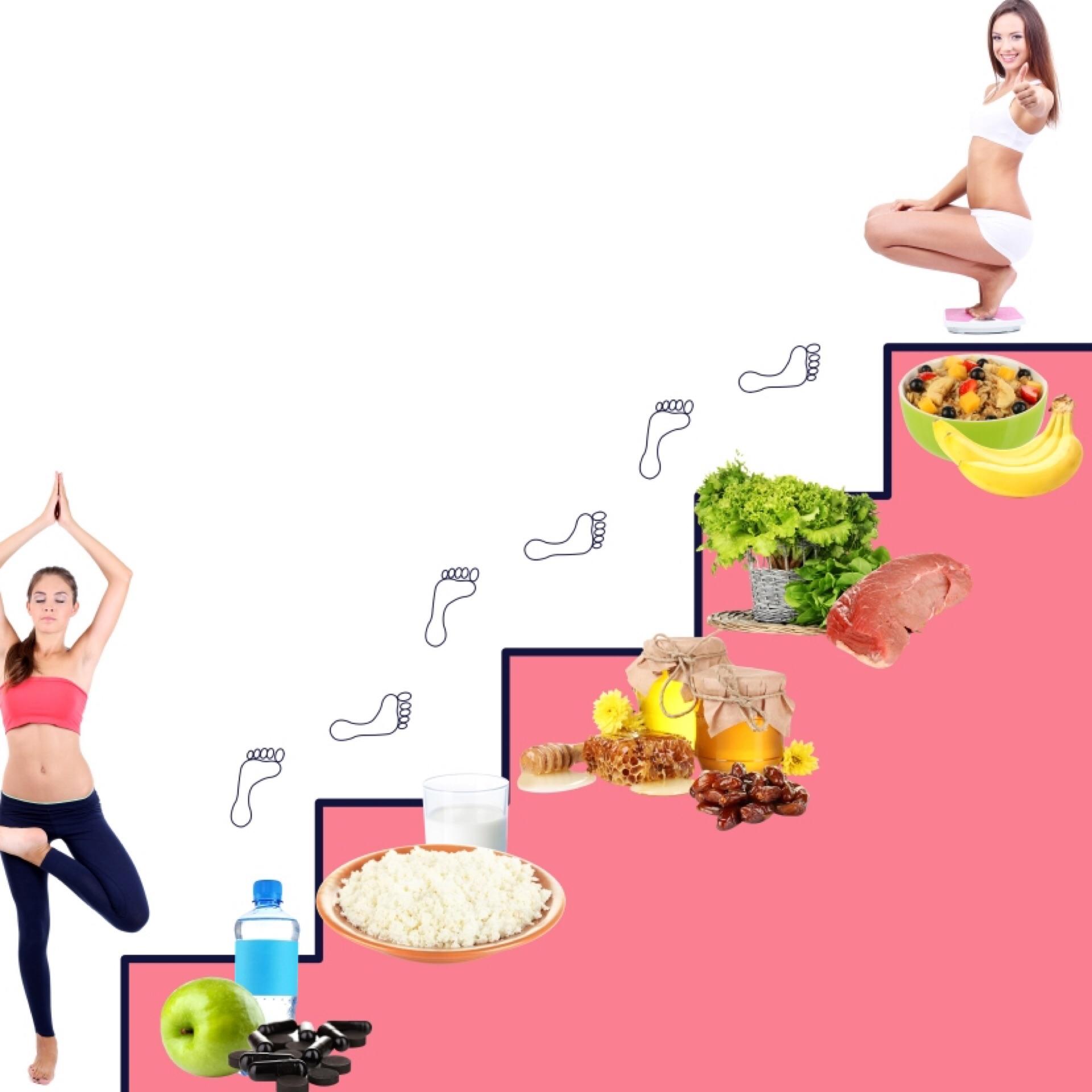 Похудела на диете лесенка