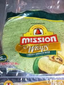 Mission Garden Spinach Herb Tortilla Wraps - Photo