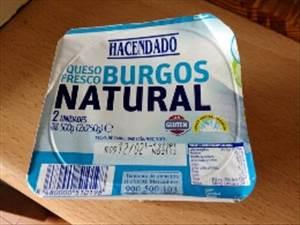 Burgos nutricional valor fresco queso