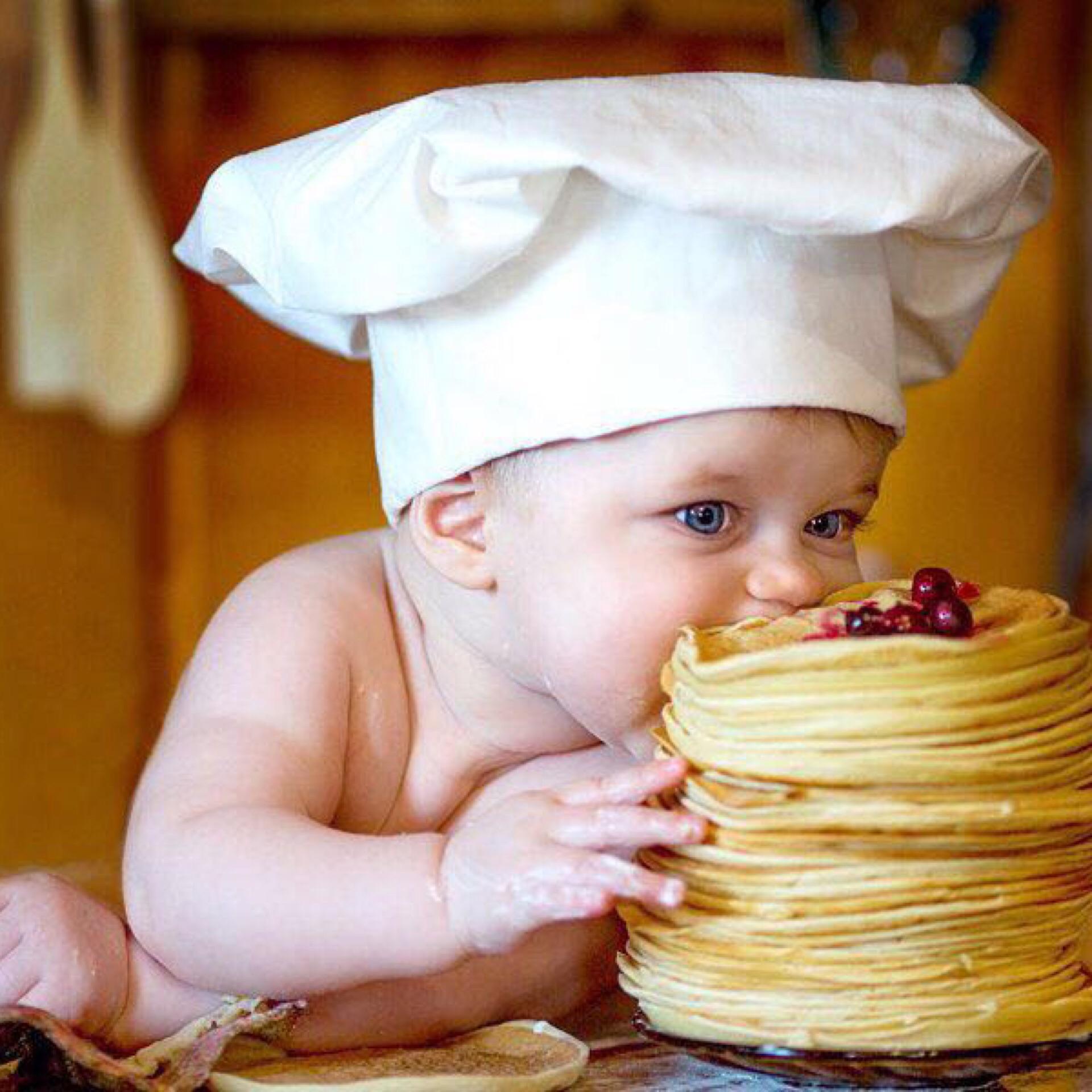 Смешные картинки ребенок повар, добрым утром