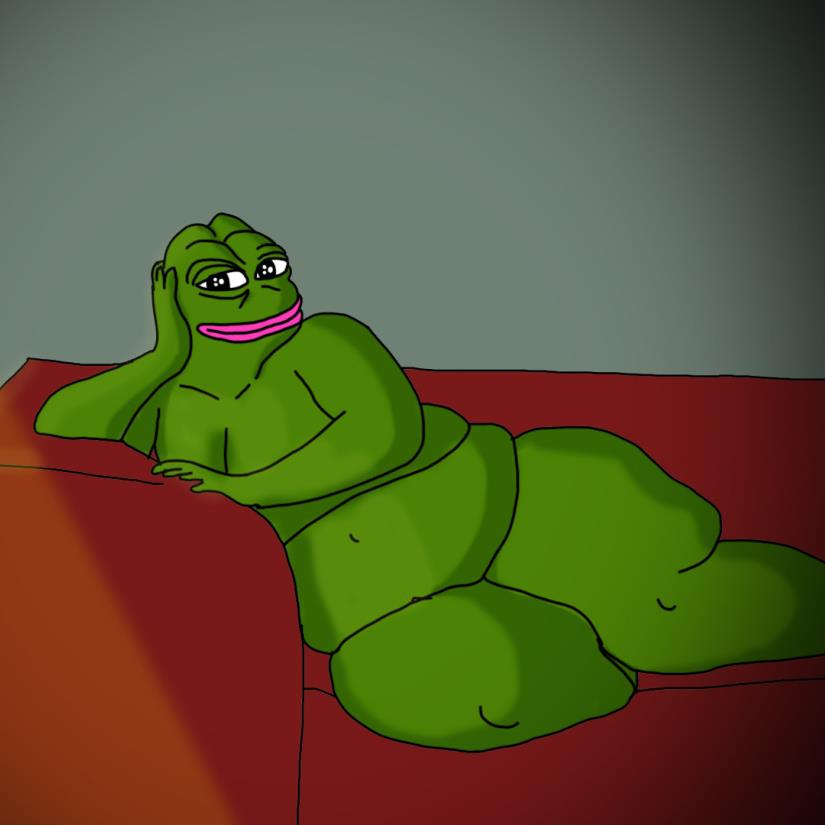 Weird purple frog seduces females