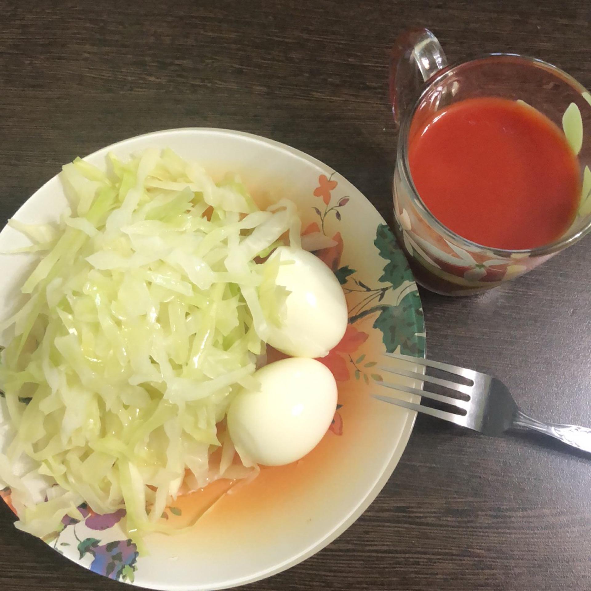Диета с яйцом и томатным соком